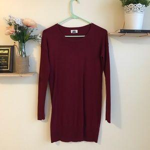 Stunning red sweater dress!